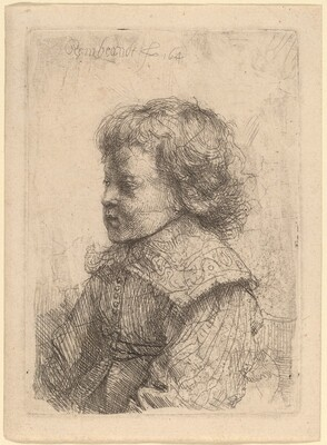 Portrait of a Boy in Profile