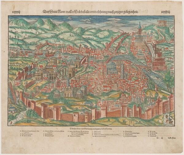 Der Statt Rom, from Cosmographei